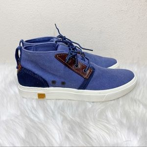 Timberland Amherst Lace Up Chukka Booties Blue 6.5